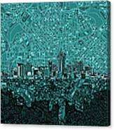 Denver Skyline Abstract 5 Canvas Print