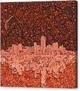 Denver Skyline Abstract 6 Canvas Print
