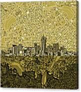 Denver Skyline Abstract 8 Canvas Print