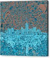 Denver Skyline Abstract Canvas Print