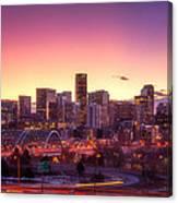 Denver Sunrise Canvas Print