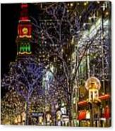 Denver's 16th Street Mall During Holidays Canvas Print
