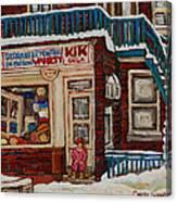 Depanneur Kik Cola Montreal Canvas Print