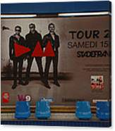 Depech Mode Tour Canvas Print