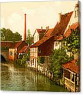 Der Gross Venedig-hildesheim-hanover -germany -  Between 1890 An Canvas Print