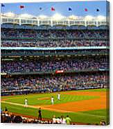 Derek Jeter Leads The Way As The Yankees Take The Field Canvas Print