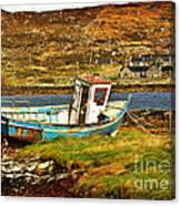 Derelict Fishing Boat On The Irish Coast Canvas Print
