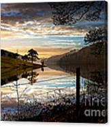 Derwent Village Reflections Canvas Print