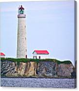 Des-rosiers Lighthouse Is Canada's Tallest In Forillon Np-qc Canvas Print