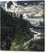 Desaturated Mountainscape Canvas Print