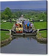 Descending Caen Hill Locks Canvas Print