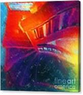 Descending The Stardust Stairway Canvas Print
