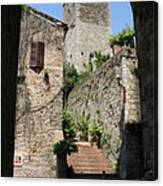 Desert Alley In San Gimignano Canvas Print