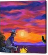 Desert Camp Canvas Print