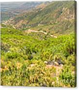 Desert Gulley Canvas Print