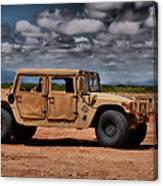 Desert Humvee Canvas Print