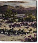 Desert In Bloom At Dusk Canvas Print