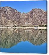 Desert Lake Stillness Canvas Print