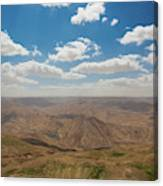 Desert Landscape By The Tannur Dam Canvas Print