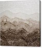 Desert Mountain Mist Original Painting Canvas Print
