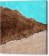 Desert Mountains Original Painting Canvas Print