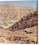 Desert Of Wadi Musa Canvas Print