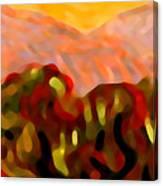 Desert Olive Trees Canvas Print