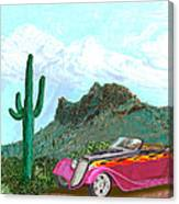 Desert Roadster 34 Ford Canvas Print