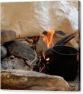 Desert Sinai Fireplace Egypt Canvas Print