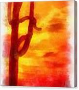 Desert Sunset Photo Art 01 Canvas Print