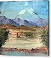Desert Water Tank Canvas Print