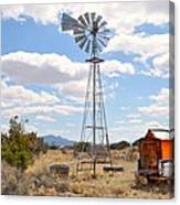 Desert Windmill Canvas Print