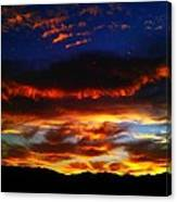 Desert Winter Sunset  Canvas Print