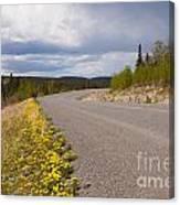 Deserted Rural Highway Yukon Territory Canada Canvas Print