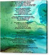 Desiderata 2 - Words Of Wisdom Canvas Print