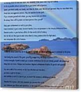Desiderata On Beach Scene With Rainbow Canvas Print