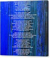 Desiderata On Blue Canvas Print
