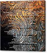 Desiderata On Gold Canvas Print