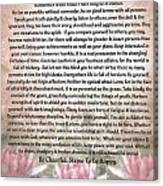 Desiderata On Lotus Watercolor Canvas Print