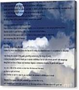 Desiderata On Sky Scene With Full Moon And Clouds Canvas Print