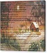 Desiderata On Snow Scene With Cabin Canvas Print