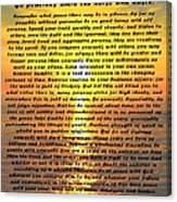 Desiderata Pismo Beach Golden Sunset Canvas Print