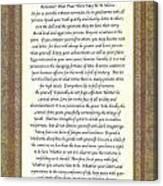 Desiderata Poem By Max Ehrmann Canvas Print