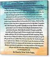 Desiderata Poem On Brighton Beach Watercolor Canvas Print
