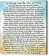 Desiderata Poem On Watercolor Canvas Print