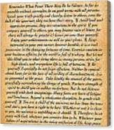 Desiderata Poster On Antique Embossed Wood Paper Canvas Print