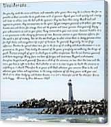 Desiderata Santa Cruz Lighthouse Canvas Print