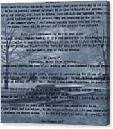 Desiderata Winter Scene Canvas Print