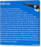 Desiderata With Bald Eagle Canvas Print