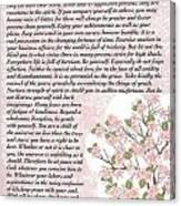 Desiderta Poem On Cherry Blossom Canvas Print